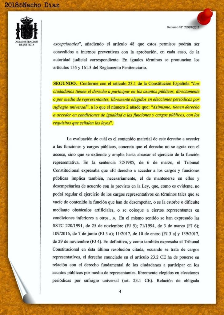 El juez autoriza a Junqueras, Forn y Sànchez a delegar el voto para la i...