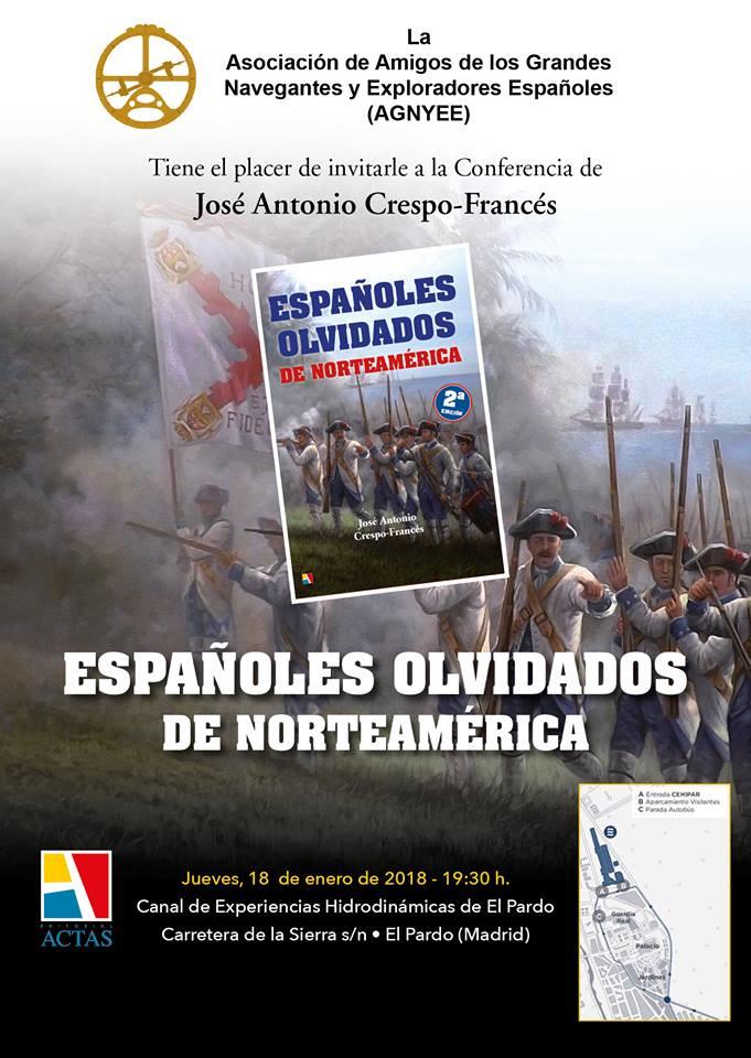 Invitación Conferencia Españoles Olviddos de Norteamérica