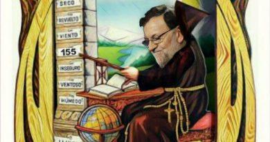 Mariano Rajoy  y su palo. Ilustración de Linda Galmor