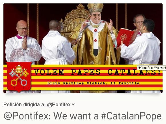 Queremos Papas catalanes, Luis Martínez Sistach, el preferido
