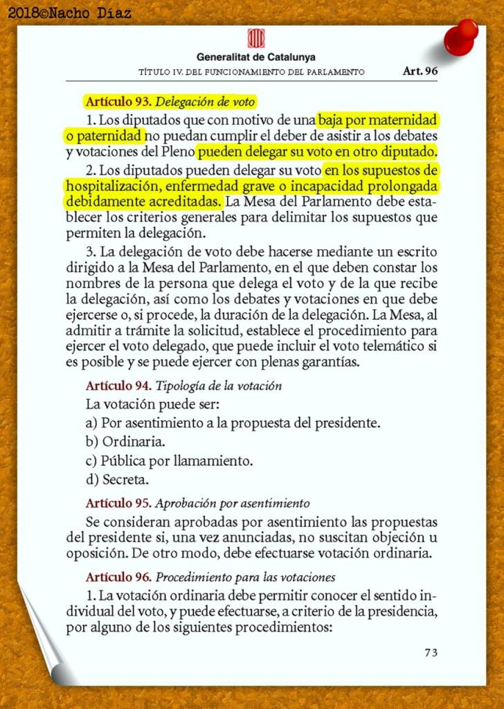 Reglamento del Parlamento de Cataluña Pág. 73