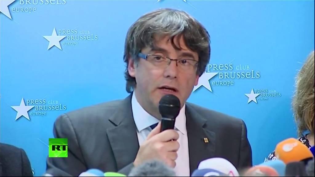 Rueda de prensa de Carles Puigdemont en Bruselas