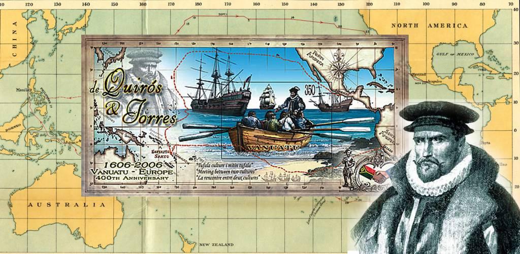 Sale de El Callao la expedición de Pedro Fernández de Quirós, quien descubriría la mayor parte de las islas Nuevas Hébridas