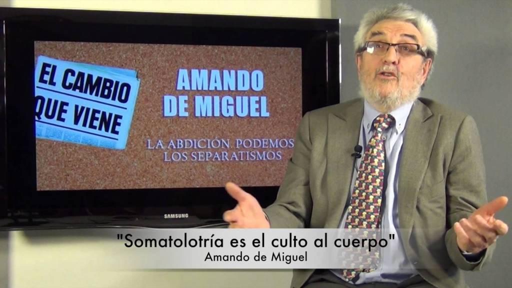 Amando de Miguel, autor de 'El cambio que viene'