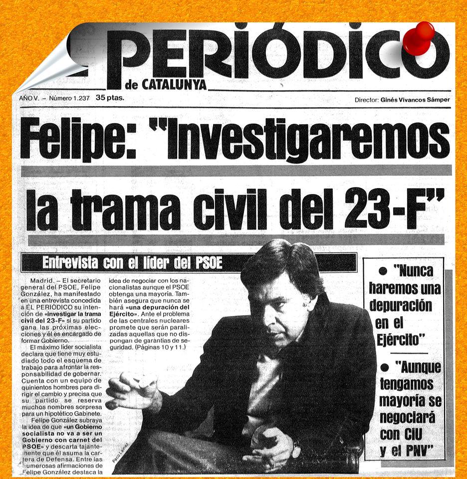 Felipe González - Nunca Haremos una depuración en el Ejercito (ni en el CESID por lo visto) aquí)