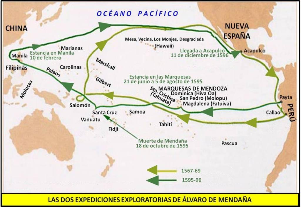 Una leyenda inca decía que al oeste había islas llenas de oro por lo que, inmediatamente, se compararon con las minas del rey Salomón y, aunque no se encontró oro, este nombre perduró. Mapa elaboración propia ©José Antonio Crespo-Francés
