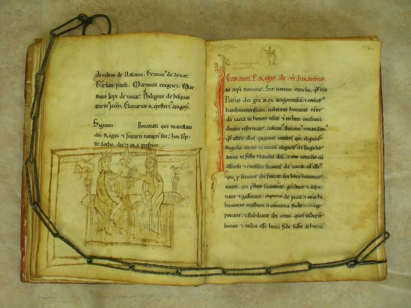 los documentos de Jaca del Libro de la Cadena