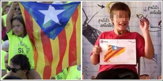 Adoctrinamiento de los niños en las escuelas catalanas.