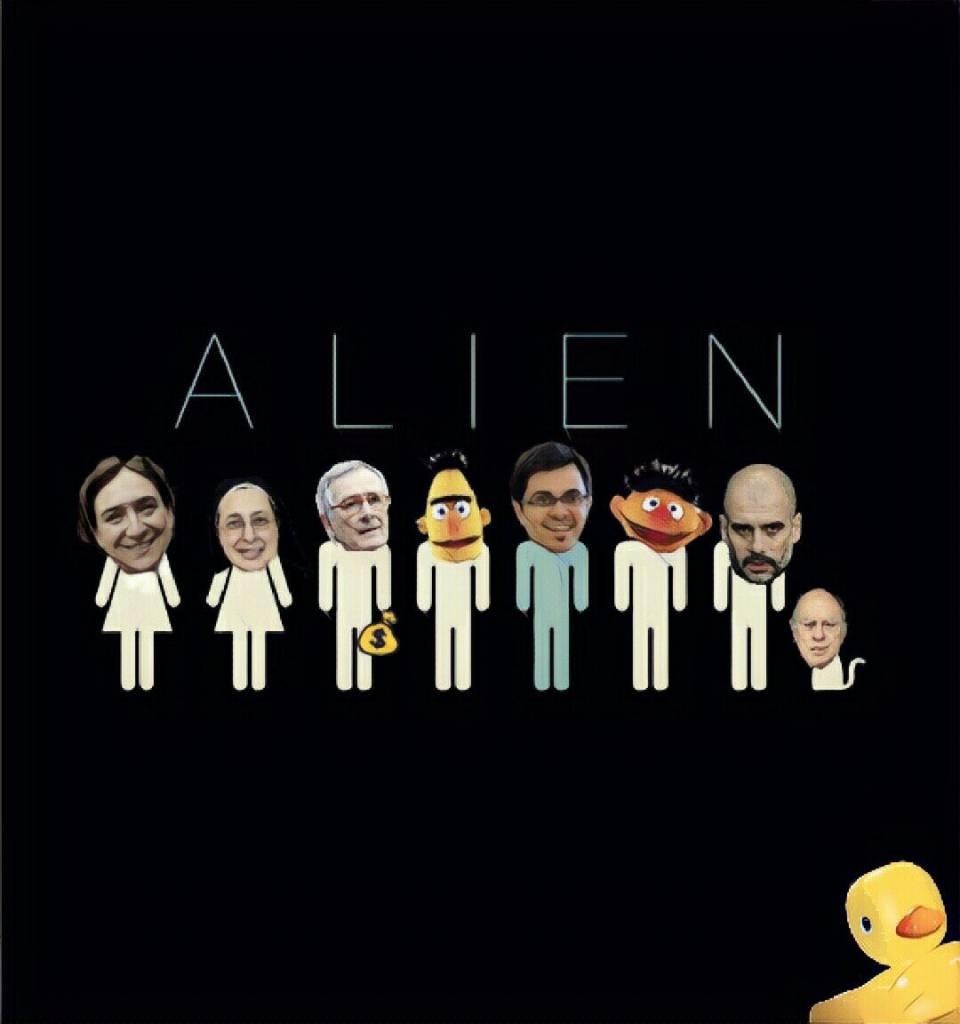Alien, el octavo pasajero. Pobre Barcelona. Ilustración de Linda Galmor