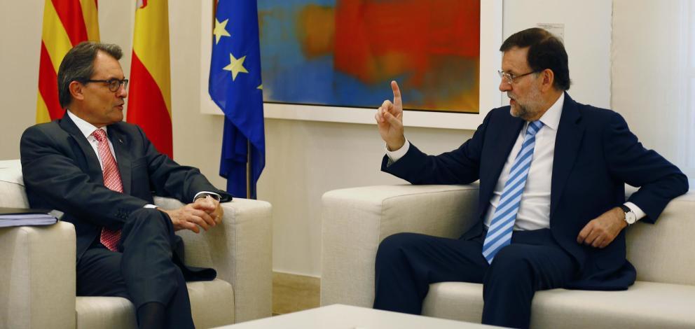 Artur Mas y el presidente del Gobierno, Mariano Rajoy