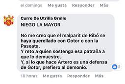 Curro de Utrilla, fundador de Palmaria, niega la realidad a sus acólitos