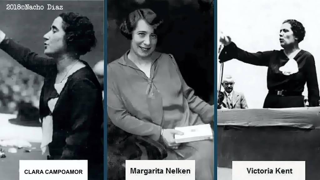 Dos de las tres diputadas que había en el Congreso en 1931, de tendencia socialista, se mostraron en contra de conceder el sufragio a la mujer