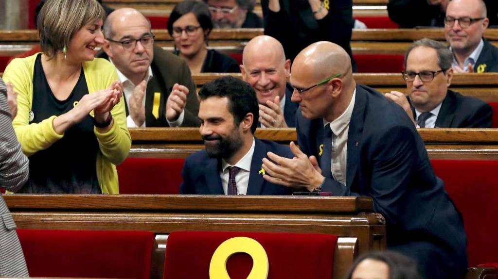 El elegido presidente del Parlament, Roger Torrent.