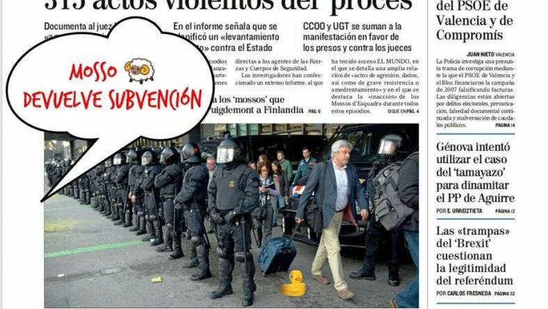 Los tractorianos tratan de paralizar Cataluña. Ilustración de Linda Galmor