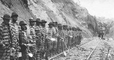 Prisioneros en trabajos forzados en un uno de los gulag mundiales
