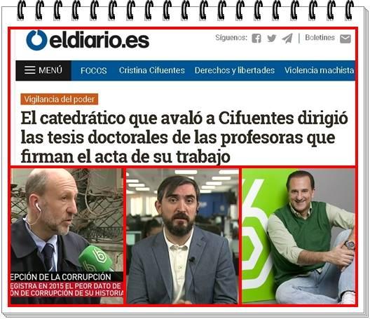 los profesores o profesoras que firmaron actas de másteres dirigidos por los catedráticos Manuel Villoria y José Miguel Contreras, formaban parte de su estrecho círculo