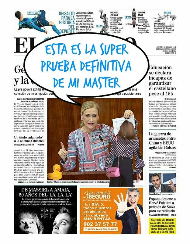 El Master de la Cifu es noticia durante mas de una semana. Ilustración de Linda Galmor