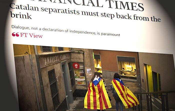Financial Times pide a los independentistas que den un paso atrás porque el diálogo y no una DUI son necesarios