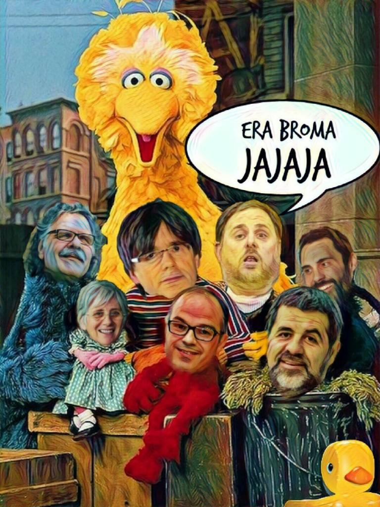 Mientras tanto en un Barrio Catalufo....Ilustración de Linda Galmor