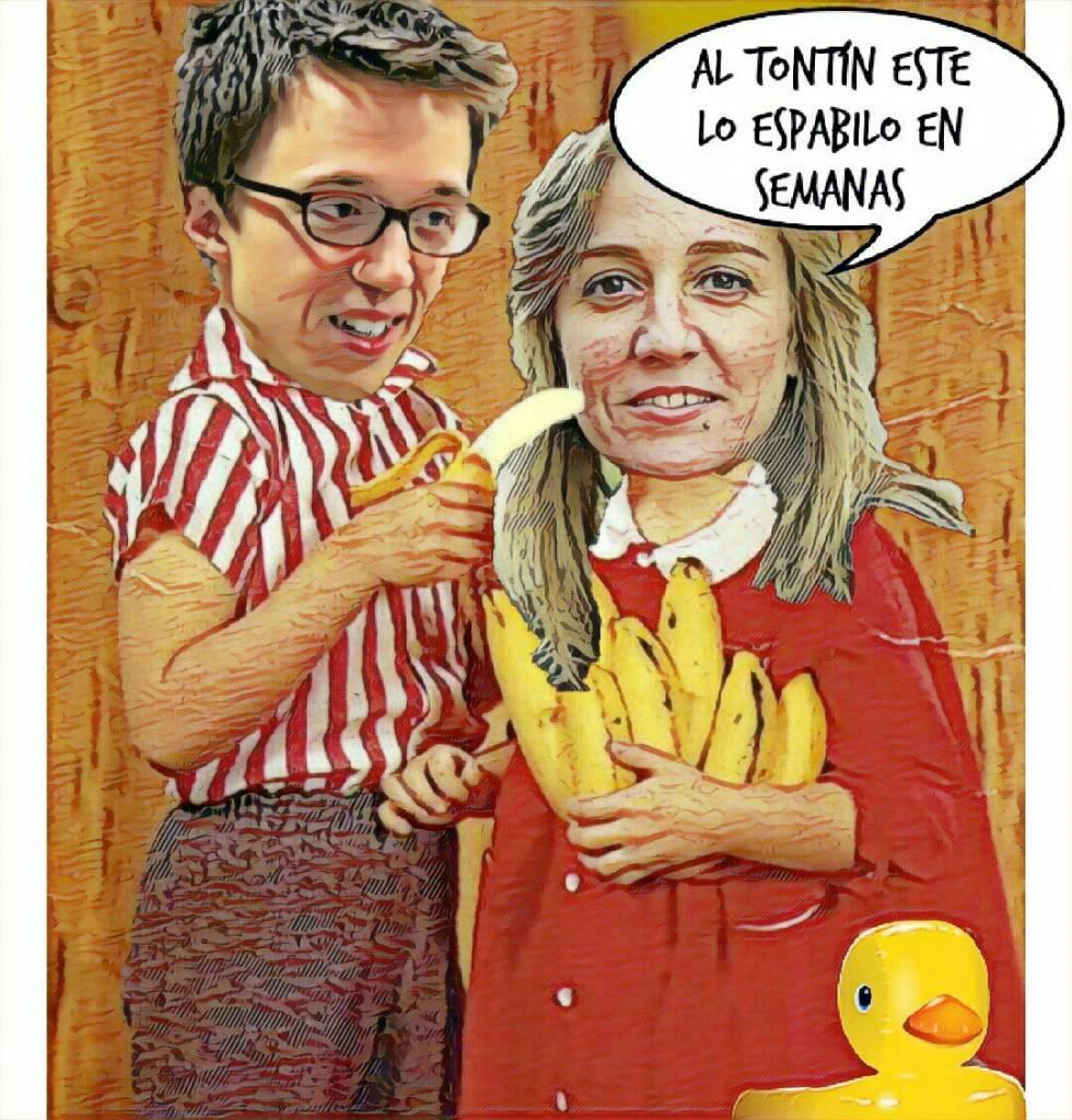 Ya lo hizo con PabLenin... Ilustración de Linda Galmor