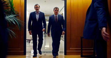 Albert Rivera junto a Mariano Rajoy