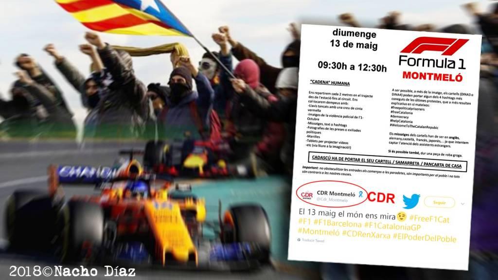 Convocatoria sabotaje CDR en F1