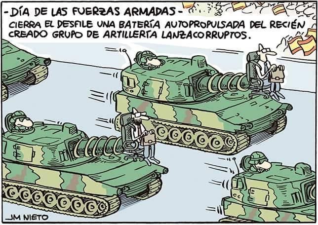 Día de las Fuerzas Armadas. Humor de JM Nieto