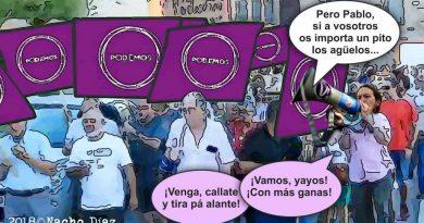 En las movilizaciones o manifestaciones en las calles españolas el morado comienza a superar al rojo tradicional