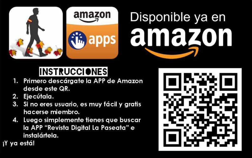 Tenemos la App de La Paseata en AmazonStore ¡Descárgatela desde el móvil escaneando el QR