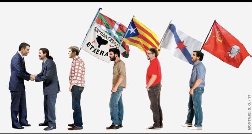 ZPedro y su plurigilipollez se prepara para el 'besamanos' con toda la jauría que pretende destrozar España. Ilustración de Santi Orue