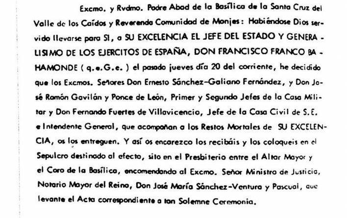 El único escrito del Rey Juan Carlos I firmado con el clásico Yo el Rey