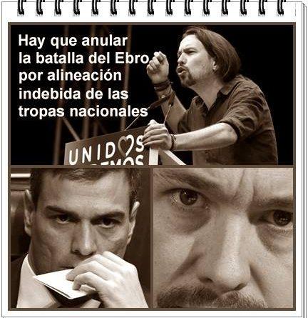 Hay que anular la batalla del Ebro por alineación indebida de las tropas nacionales