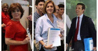Los tres favoritos a presidir el PP