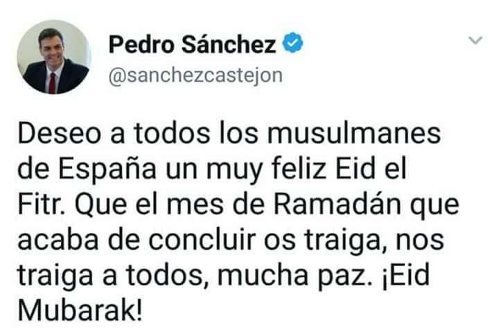 Pedro Sánchez y el Ramadán