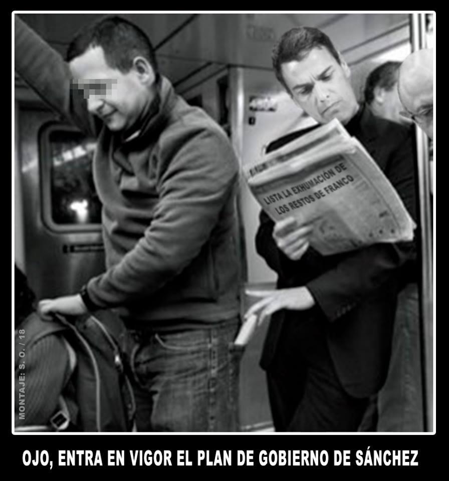 Pedro Sánchez presenta su plan de Gobierno en el Congreso. Ilustración de Santi Orue