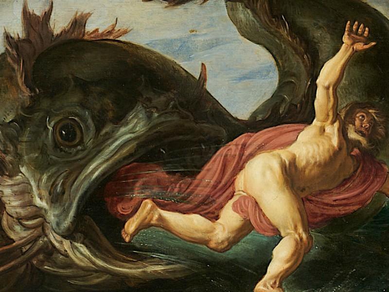 Jonás fue uno de esos profetas que no entendía nada. Pieter Lastman, Jonás y la ballena (1621)