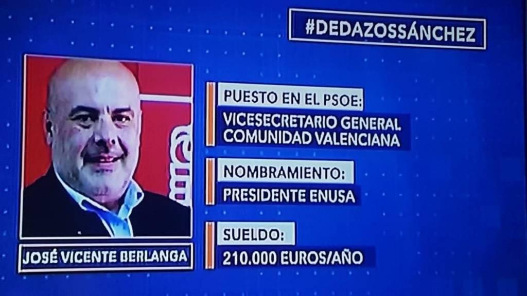 Dedazos Sánchez. José Vicente Berlanga