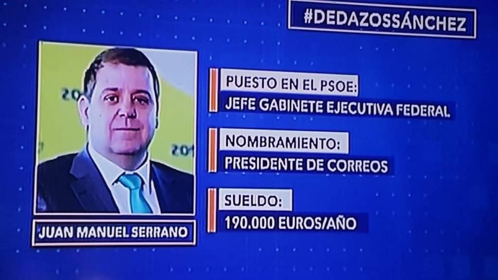 Dedazos Sánchez. Juan Manuel Serrano