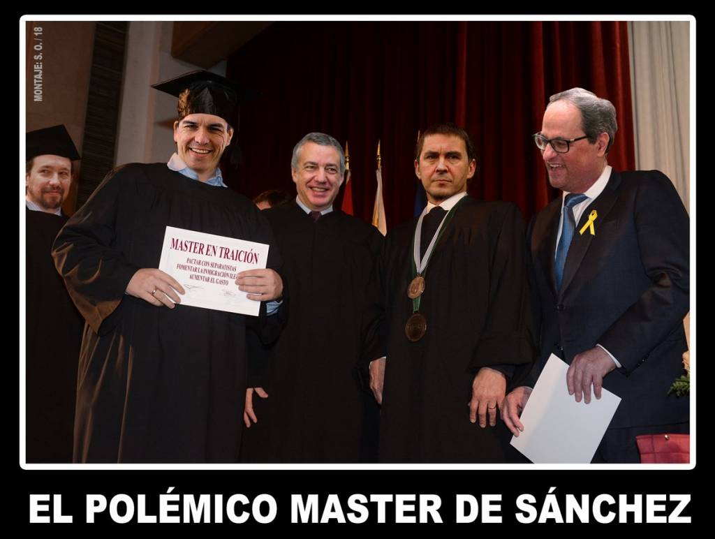 El Gobierno rechaza sancionar por ley los homenajes a etarras. El polémico Master de Sánchez. Por Santi Orue