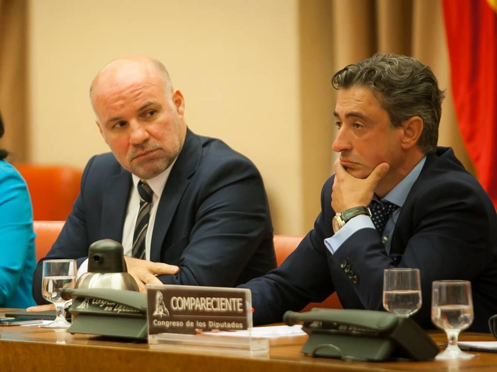 El portavoz de la Asociación de Jueces para la Democracia, Ignacio González y el portavoz de la AJFV, Raimundo Prado