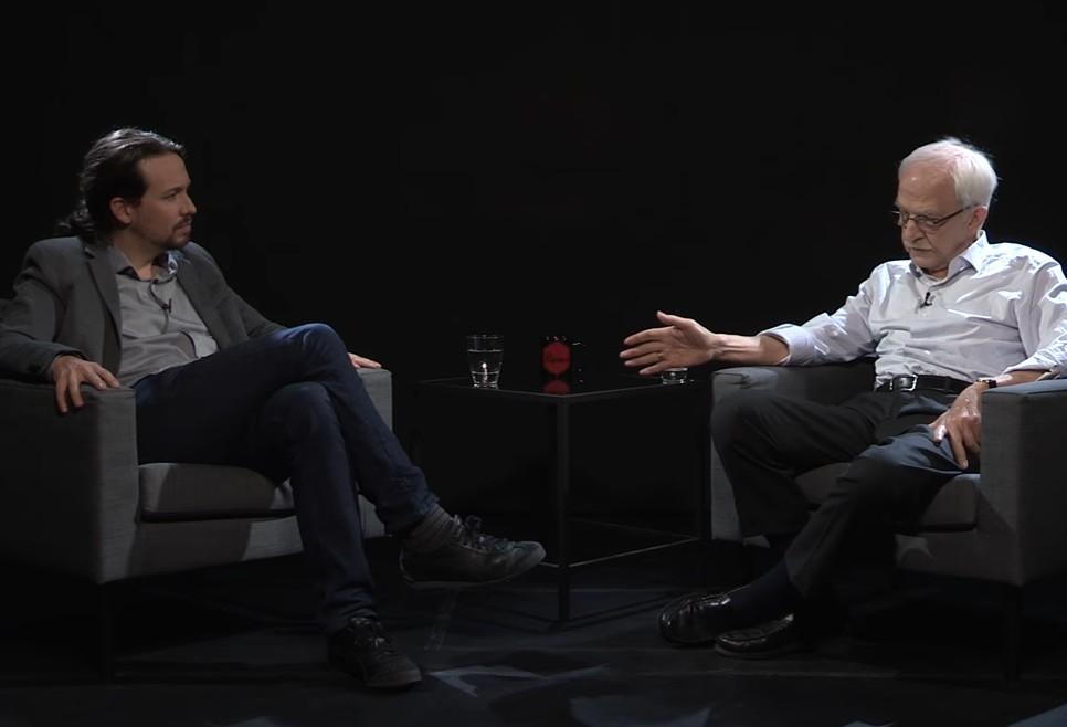 Pablo Iglesias y Antonio Escohotado
