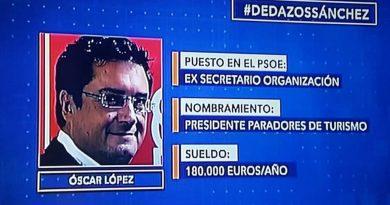 Pedro Sánchez, Agencia de empleo o dedazos Sánchez- Óscar López
