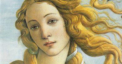 Venus-encima-de-una-concha-y-surgiendo-del-agua