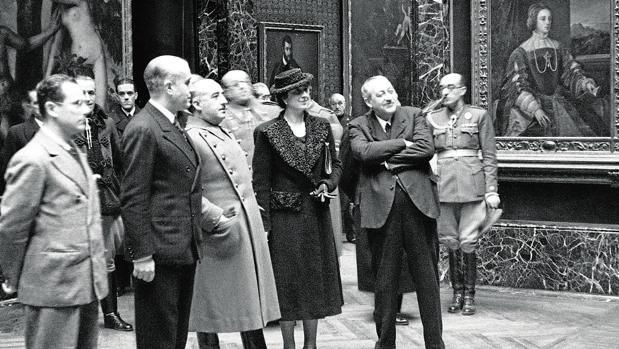 Visita-de-Franco-al-Museo-del-Prado-el-7-de-febrero-de-1940