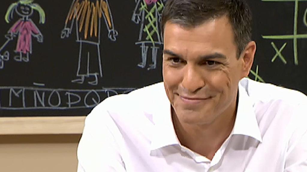 Pedro Sánchez responde en Telecinco que Beyoncé es su cantante favorita y quería ser jugador de baloncesto