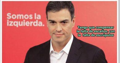 Pedro Sánchez compensa la falta de escaños con la falta de escrúpulos