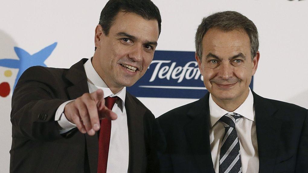 Los guapetones Pedro Sánchez y Zapatero