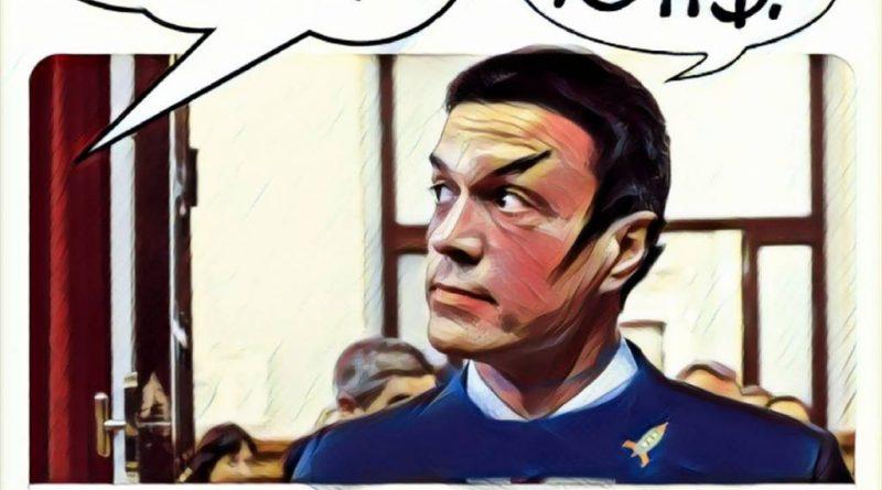 Pedro lanza una amenaza vulcaniana a Albert en el Congreso. Linda Galmor