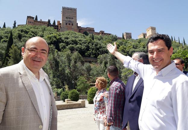 Sebastián Pérez y Juanma Moreno