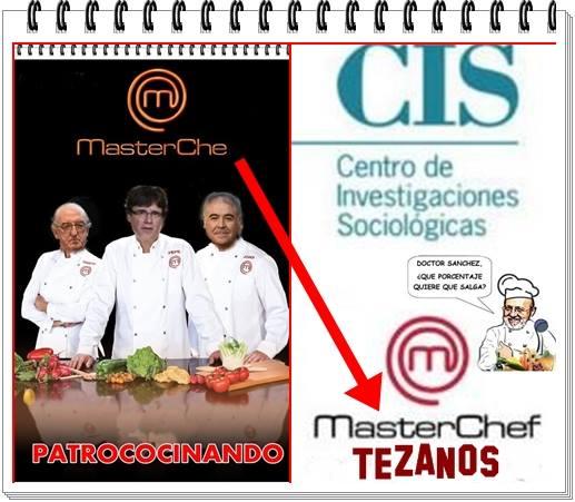 DE MASTER CHE PATROCOCINANDO A MASTER CHEF TEZANOS